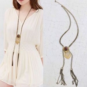 Urban Outfitters Fringed Mesa Solstice Necklace